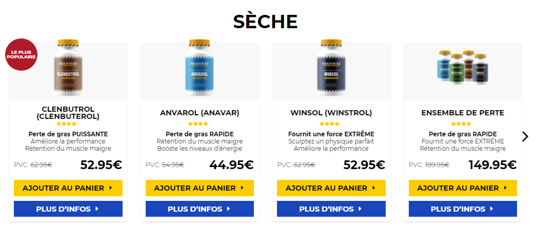 achat cure de testosterone ANAVAR 10 mg